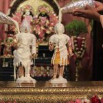 Sri Krishna Balaram receiving Panchamrita Abhisheka