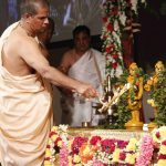 Sri Sri Krishna Balaram receiving Arati