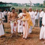 2003 - Bhumi Puja for the existing temple