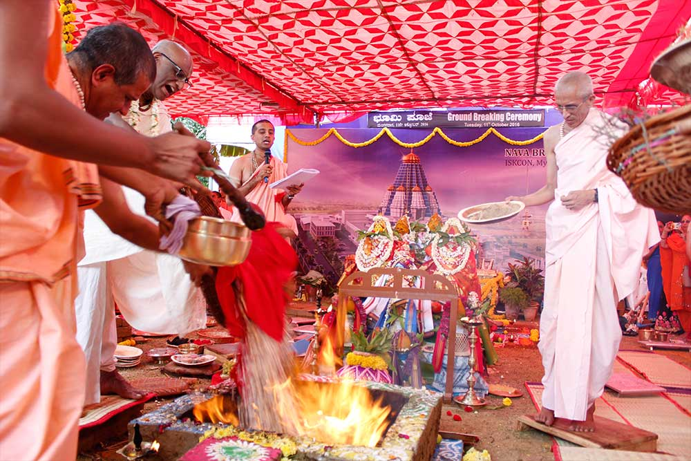 11th October 2016 - Bhumi Puja for the Nava Brindavan Dham Cultural Centre