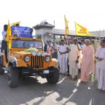 Flagging off the entourage of Deities