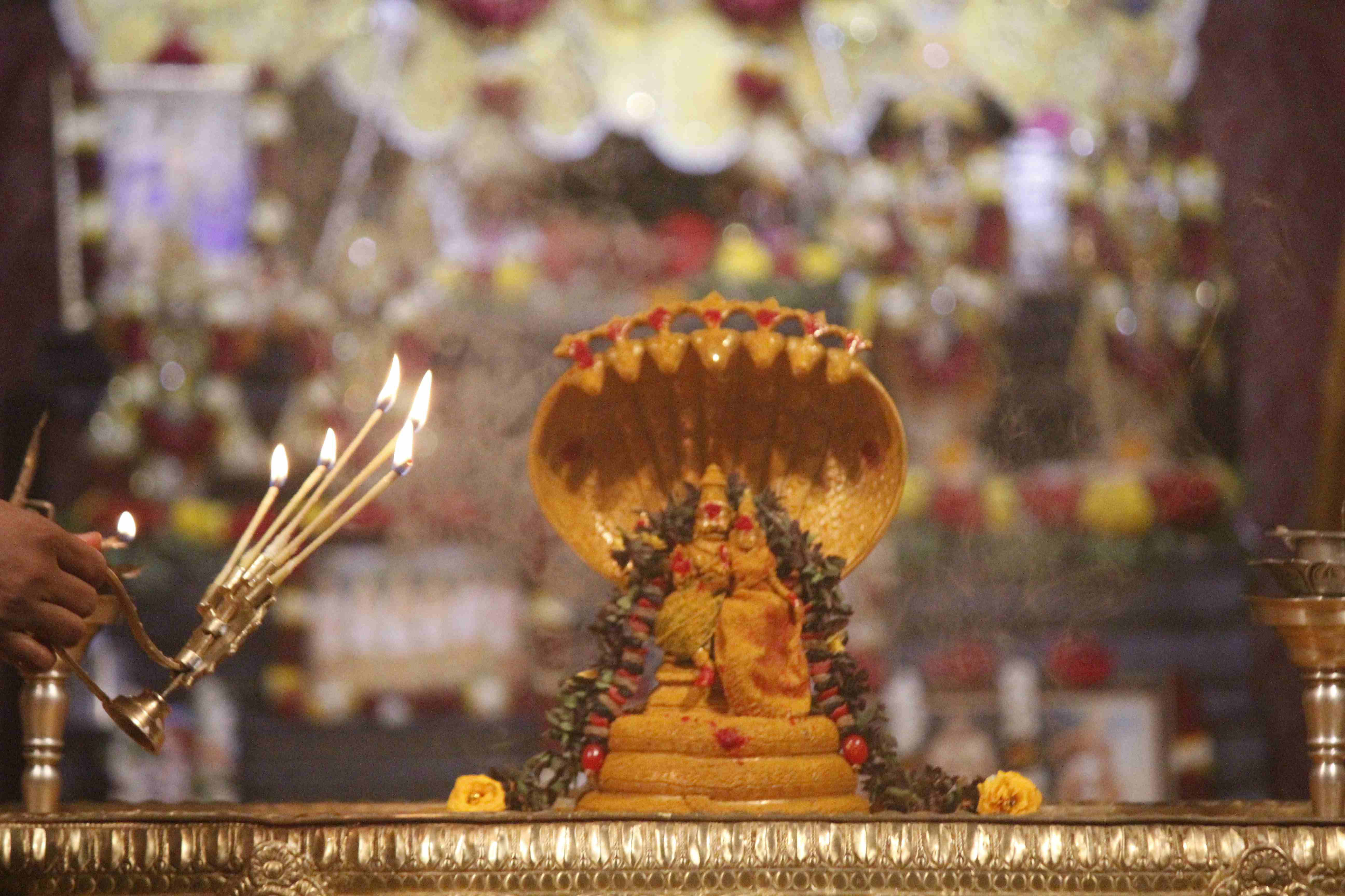 A grand arati to Lord Narasimha